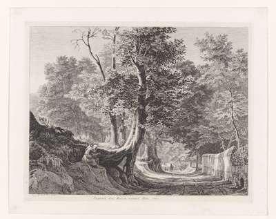 Landschap in de buurt van Ariccia; Gegend bei Aricia unweit Rom; Landschappen in Italië; Malerische Radirungen aus Italien