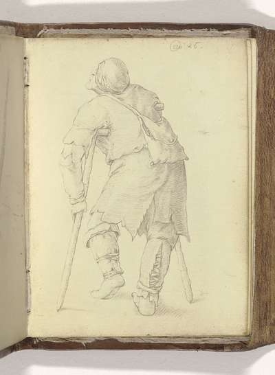 """Bedelaar, op de rug gezien; Schetsboek """"A.S.Fe"""", 1587, blad 6r(12)"""