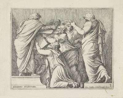 Lycurgus en Numa Pompilius geven de Romeinen de wetten; Scènes uit de Romeinse geschiedenis