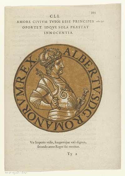 Medaillon met een portret van keizer Albert II; Icones imperatorum Romanorum