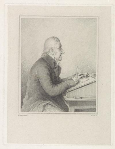 Portret van veilinghouder George Leigh