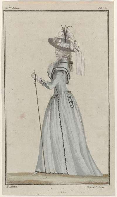 Cabinet des Modes ou les Modes Nouvelles, 1 septembre 1786, Pl. I