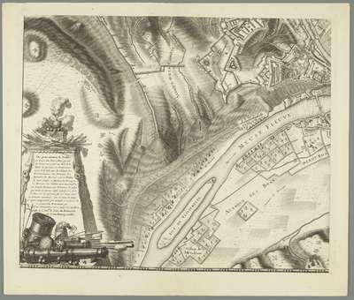 Grote kaart van het beleg van Namen (blad nr. 3), 1695; Plan de la Ville et du Château de Namur, dans l'état qu'etoit cette Place lors qu'elle fut assiegée et reprise en 1695 par les Armes des Alliez, sous la très sage et...