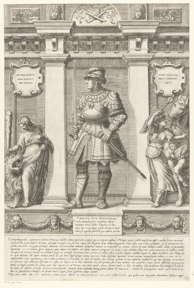 Portret van Karel de Stoute, hertog van Bourgondië; Portretten van leden van het Oostenrijkse Huis; Austriacae gentis imaginum