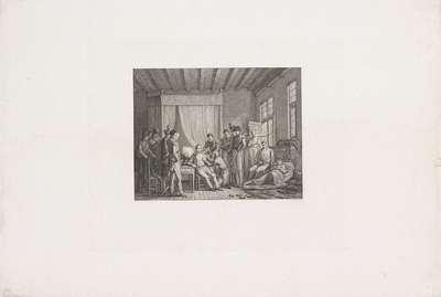 Verzorging van de gewonde prins van Oranje,1815