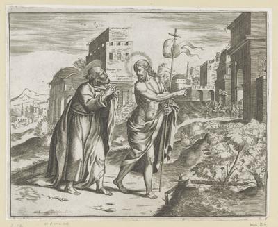 Christus verschijnt aan Petrus bij de poort van Rome