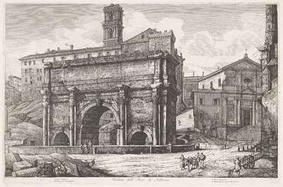 Boog van Septimius Severus te Rome; Veduta dell' Arco di Settimio