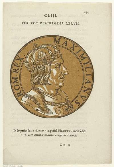 Medaillon met een portret van keizer Maximiliaan I; Icones imperatorum Romanorum