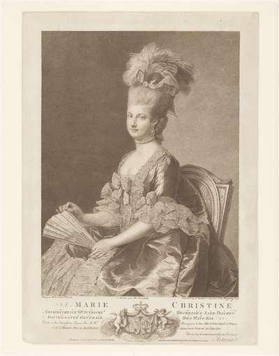 Portret van Maria Christina van Oostenrijk
