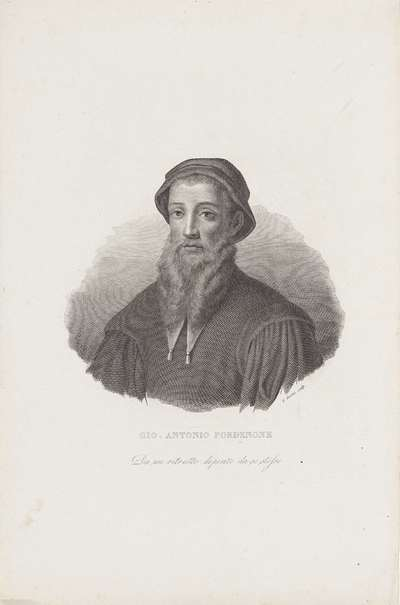Image from object titled Portret van schilder Giovanni Antonio Pordenone