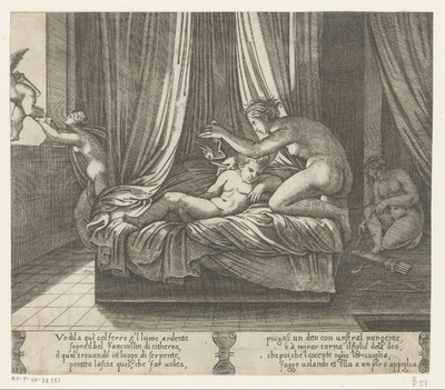 Psyche en de slapende Amor; Verhaal van Amor en Psyche
