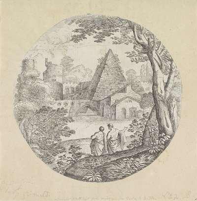 Landschap met piramide