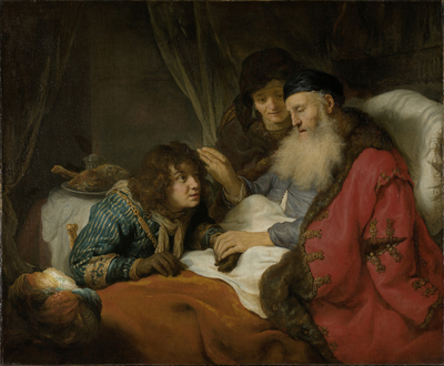 Image from object titled Isaac Blessing Jacob