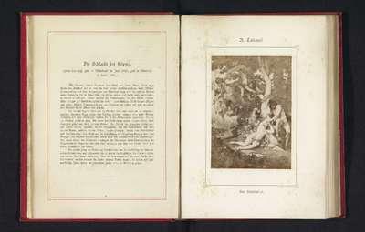 Fotoreproductie van een schilderij, voorstellende de verdrijving van Adam en Eva uit het Paradijs; Der Sündenfall