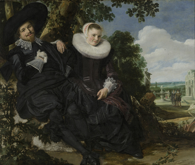 Image from object titled Portrait of a Couple, Probably Isaac Abrahamsz Massa and Beatrix van der Laen