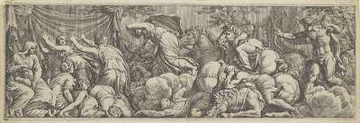 Apollo en Diana doden de kinderen van Niobe; Het leven van Niobe (kopieën)