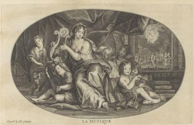 Muziek; La Musique; Le Cabinet des Beaux Arts, ou Recueil Des Plus Belles Estampes, gravées d'aprés les Tableaux Originaux (...)