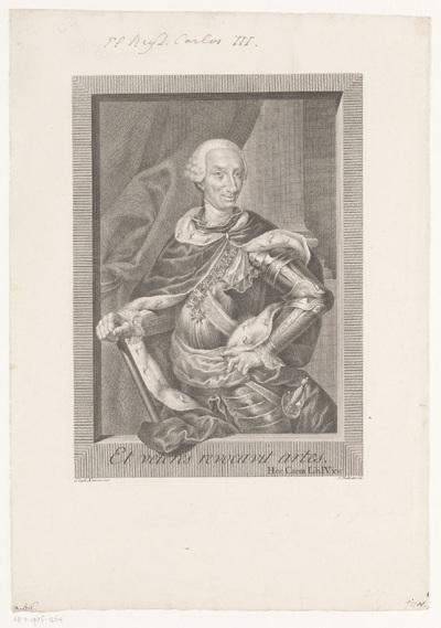 Portret van Karel III, koning van Spanje