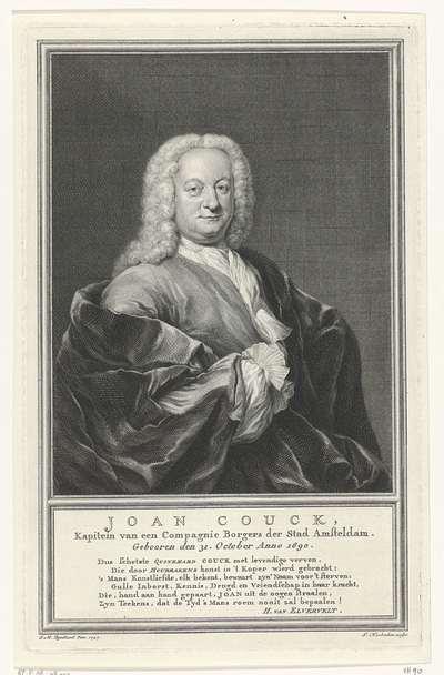 Portret van Joan Couck; Joan Couck