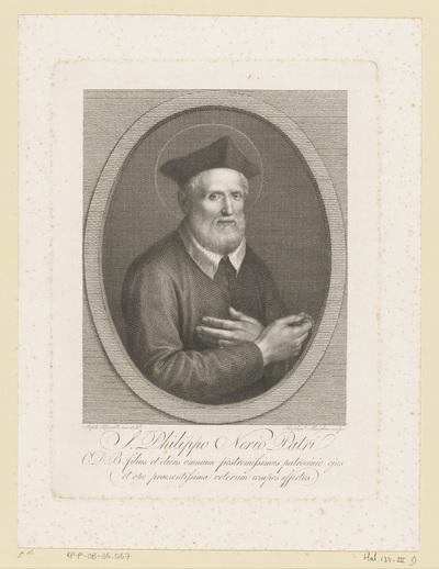 Portret van de heilige Filippo Neri