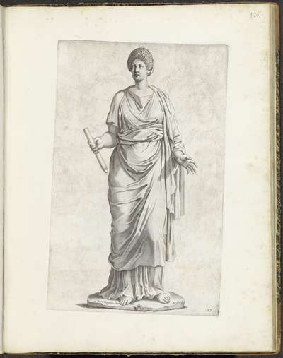 Standbeeld van een vrouw met staf; Galleria Giustiniana del Marchese Vincenzo Giustiniani I