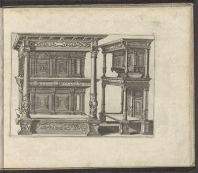 Twee buffetkasten; Verscheidene Schreinwercke / Plusieurs Menuiseries