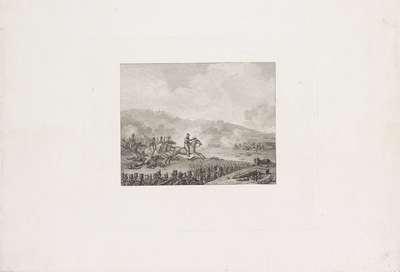 Prins van Oranje leidt de Nederlandse troepen bij Quatre-Bras, 1815