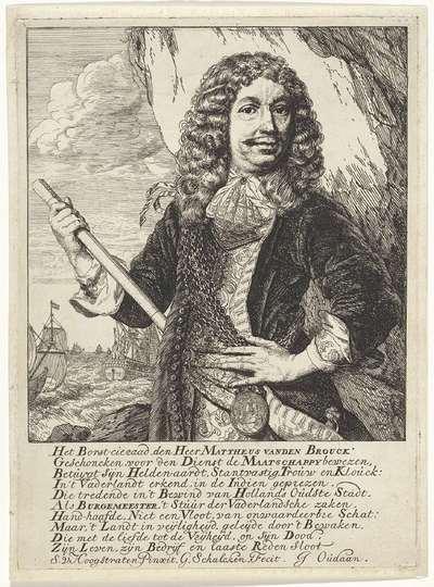 Portret van Mattheus van den Broucke