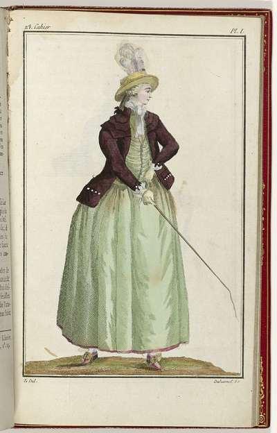Image from object titled Cabinet des Modes ou les Modes Nouvelles, 15 Septembre 1786, pl. I