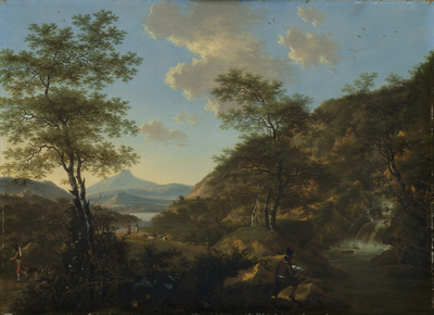 Image from object titled Italian Landscape with Draftsman