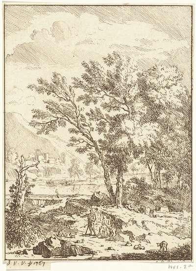 Image from object titled Landschap met herdersfamilie
