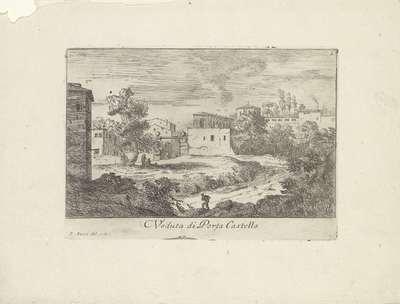 Landschap met de Porta Castello; Veduta di Porta Castello; Varie Vedute