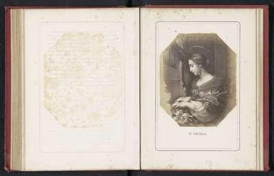 Fotoreproductie van een schilderij van Cecilia door Carlo Dolce; St.Cecilia