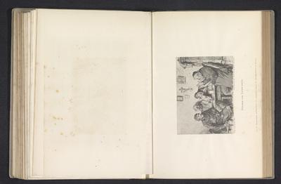 Fotoreproductie van een tekening, voorstellende vier mannen rond een tafel; Freunde des Vaterlandes