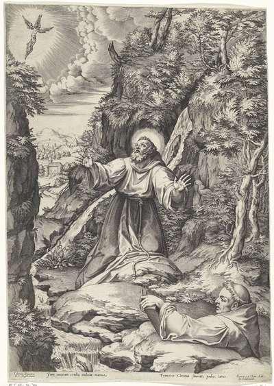 Franciscus van Assisi ontvangt de stigmata