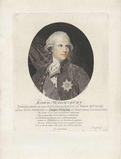 Portret van James Harris, eerste graaf van Malmesbury