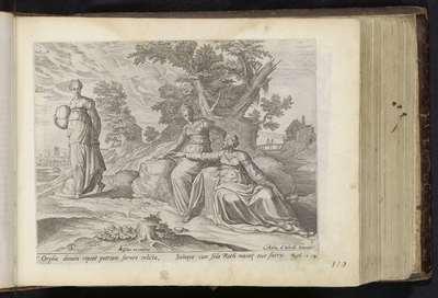 Orpa verlaat Ruth en Naomi; De Historie van Ruth; Geschiedenis van Ruth; Den Grooten Figuer-Bibel (...)