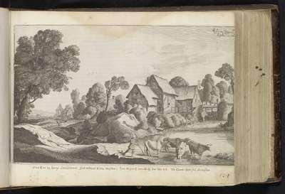 Herder met koeien bij een watermolen; De Historie van Ruth; Landschappen naar Pieter de Molijn; Den Grooten Figuer-Bibel (...)