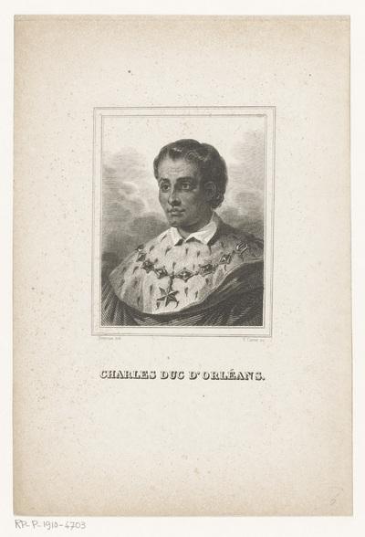 Portret van Karel, hertog van Orléans; Charles duc d'Orléans.