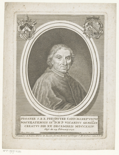 Portret van kardinaal Prospero Marefoschi