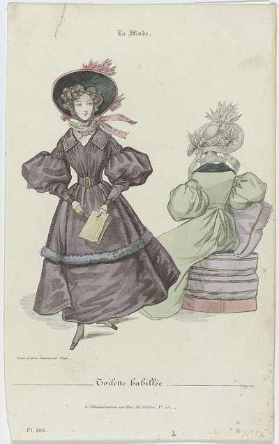 La Mode, 1830, Pl. 106 : Toilette habillée