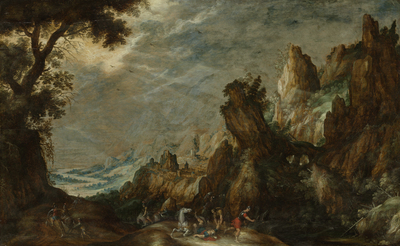 Image from object titled Landscape with Conversion of Saint Paul