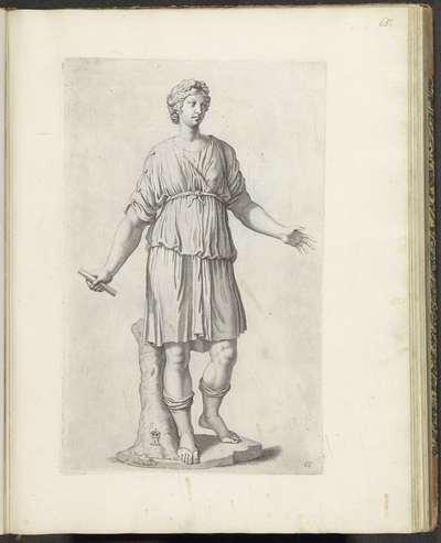 Standbeeld van staande vrouw; Galleria Giustiniana del Marchese Vincenzo Giustiniani I