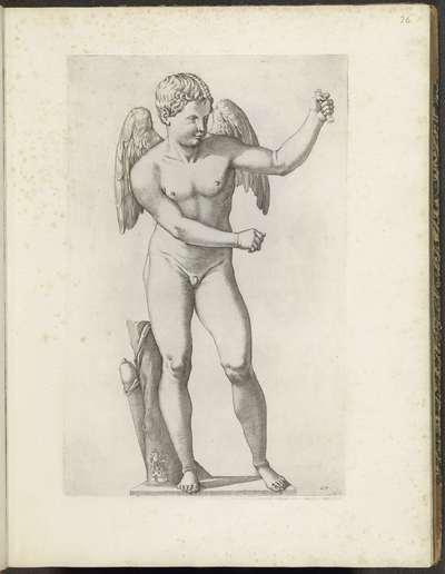 Standbeeld van Amor met naast zich zijn pijlenkoker; Galleria Giustiniana del Marchese Vincenzo Giustiniani I