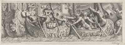 Schepen met soldaten; De aankomst van de Etrusken in Latium (kopieën)