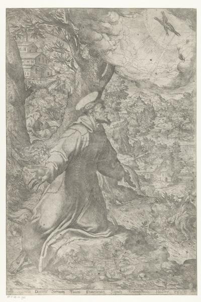 De heilige Franciscus ontvangt de stigmata; Signasti domine seruum tuum Franciscum signis redemptonis nostra