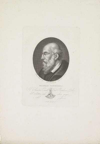 Portret van architect Michele Sanmicheli