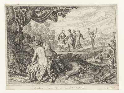 Apulische herder in een olijfboom veranderd; Metamorfosen van Ovidius