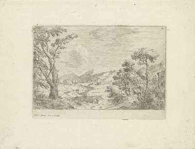 Image from object titled Landschap bij Rome; Varie Vedute