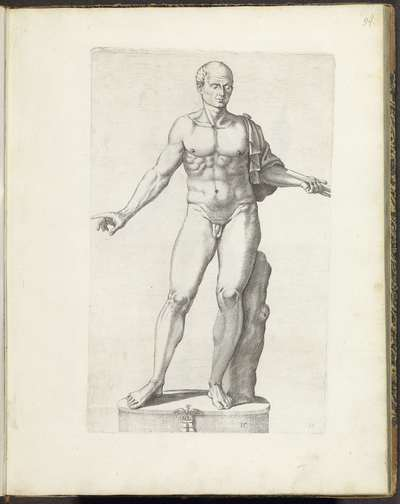 Standbeeld van de naakte Julius Caesar; Galleria Giustiniana del Marchese Vincenzo Giustiniani I